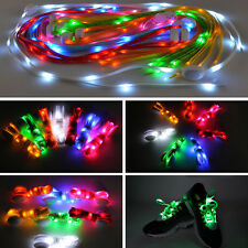 1 Pair LED Flashing Nylon Sport Party Shoelaces Sneaker Elastic Shoe Laces New