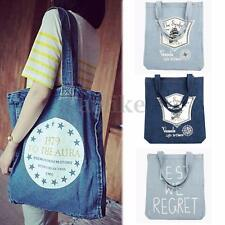Women Lady Denim Jean Handbag Purse Shoulder Bag Tote Shopping Clutch Satchel