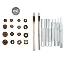 40 Sets Iron Snap Fasteners Popper Press Stud Button Sewing Tools Box Set Kit