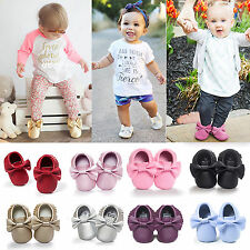 0-18m Baby Kids Soft Sole Leather Shoes Toddler Infant Boy Girl Tassel Moccasin