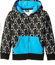 NWT STAR WARS DARTH VADER FULL ZIP UP HOODIE SWEATSHIRT BOYS SZ SMALL