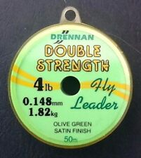 DRENNAN DOUBLE STRENGTH FLY LEADER OLIVE GREEN SATIN FINISH 50m
