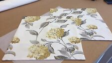 TWO  HANDMADE REVERSIBLE CUSHION COVERS IN LAURA ASHLEY HYDRANGEA CAMOMILE