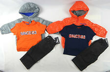 Nautica Baby boys set, 3-Piece Puffer Jacket, Tee & Pants Set size 12, 18 months