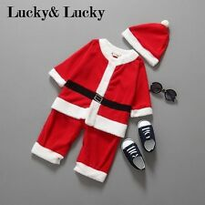 Christmas baby santa claus costume boys newborn bebe rompers