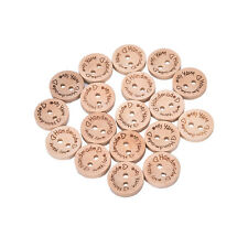 100X Handmade With Love Buttons Scrapbooking Sewing Wood Button25mm 20mm 15mm SD
