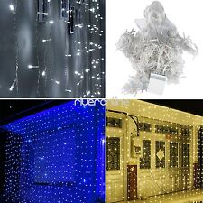3Mx3M 300 LED String Fairy Lights Net Mesh Curtain  Halloween Christmas Party