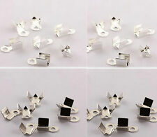 400pcs Cord Accessories 2016 Bead Cap End Pop 6/9mm For Crimp Jewelry Fold Over