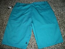 VOLCOM STONE New NWT Mens Walk Shorts Casual Turquoise Aqua Blue Chino 36 40