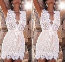 Sexy Lace Dress Bandage Women's Cocktail Hot Bodycon Evening Party Mini Summer