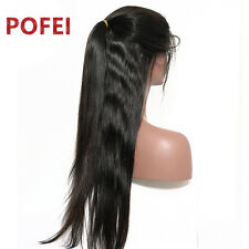 Silky Straight 100% Indian Remy Human Hair Full Lace Wigs/Lace Front Wigs 12-22""