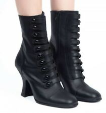 Women's Size 10-Button Up Mid Ankle Boot-Black- Jeffrey Campbell