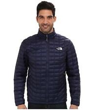 THE NORTH FACE MENS THERMOBALL JACKET FULL ZIP INSULATED BLUE SIZE M L NEW