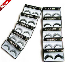 10 Pairs Long Soft Cross Natural Thick False Fake Make Up Eyelashes Eye Lash New