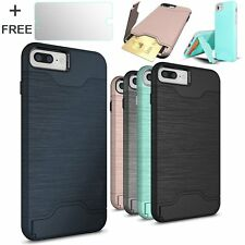 for iPhone 7 Plus Case Business Defender Hybrid Shockproof Back Cover Card Slot