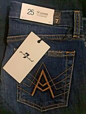 """NWT Womens 7 for all mankind Jeans """"A"""" pocket flare size 25 , 26 , 27 , 28"""