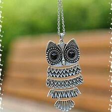 Silver Hot 2016 New Retro  Necklace bronze  Long Chain Owl Pendant Vintage