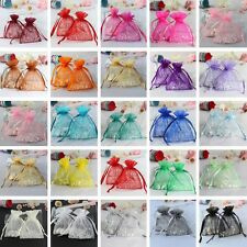 100pcs Strong Sheer Organza Pouch 7x9CM Wedding Favor Xmas Gift Candy Bag Colors
