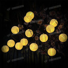 Outdoor 2M 20 LED Ball Waterproof Solar Powered Fairy String Lights For Garden