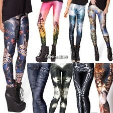 Autumn Winter Women Colorful Print Leggings Skinny Stretch Jeggings Pencil BF9