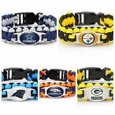 NFL Inspired Paracord Bracelets Steelers Packers Cowboys Broncos & Panthers