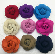 Color Fibre Rose Flower Wedding Boots Shoe Clips Pair