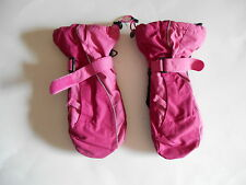 LANDS END GIRLS MITTENS SIZE M PINK TWO TONED