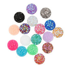 10pcs Resin Round Cabochons Colored Babysbreath Cameo Flatback DIYJewelry 12mm