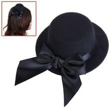 Ladies Mini Top Hat Fascinator Burlesque Millinery w/ Bowknot Dressor Accessory