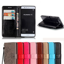 For Huawei Phone Luxury Folio Leather Stand Card Wallet Magnetic Flip Case Cover