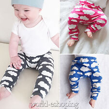 0-24M Baby Toddler Infant Unisex Cloud Printed Leggings Trousers PP Pants Tights
