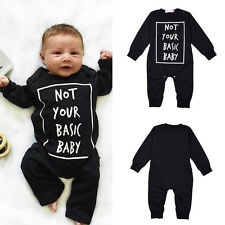 Newborn Toddler Infant Kids Baby Letters Cotton One-piece Outfits&Sets Clothing