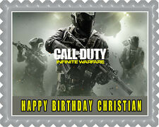 Call of Duty Infinite Warfare Edible Birthday Cake Topper OR Cupcake Topper,