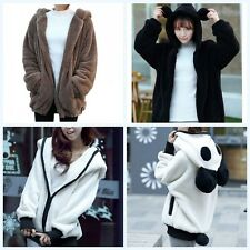 Cute Winter Warm Hoodie Coat Women Girls Fashion Hooded Thick Jacket Outerwear