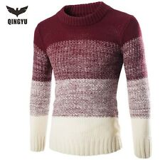 Sweater Men Pullover Casual O-Neck Slim Fit Knitted knit cotton warm pull