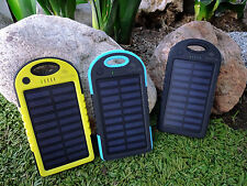 Solar Charger Waterproof Portable Power Bank Battery Dual USB For Cell Phone