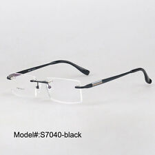 S7040   rimless  metal  myopia eyeglasses RX optical frames prescription lens