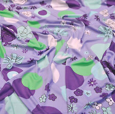 SALE!Versace authentic jersey viscose italian fabric.Flowers print.Price for 1m.