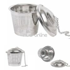 1PC Tea Infuser Stainless Steel with Lid Mesh Filter Loose Leaf Spice Strainer