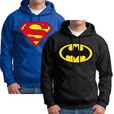 Mens Supermen Batman Hoodie Hooded Sweatshirt Coat Outwear Pullover Jumper Tops