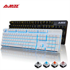 104 Keys Ajazz Robocop Mixed Backlit Usb Ergonomic Mechanical Gaming Keyboard