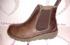 HEAVENLY FEET ROLO CHOCOLATE ANKLE BOOT WOMENS SIZES 6,6.5,7(39,40,41)