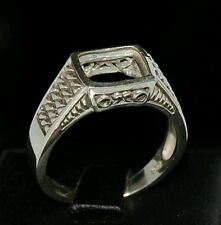 Semi mount silver ring setting octagon 9 x 7 mens size 7 8 9 10 11 12 13 resize