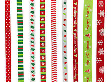 6 Meters Christmas Grosgrain Ribbon Xmas Craft Gift Wrapping Christmas Ribbon