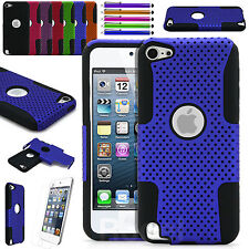 For Apple iPod Touch 5 th / 6 th Gen Hybrid Slim Armor Hard Defender Case Cover