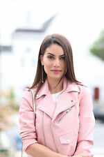 100% AUTHENTIC! ZARA PINK LEATHER EFFECT JACKET. REF 3046/221