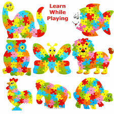 Wooden ABC Alphabet Jigsaw Animal Puzzle kids Children Educational Learning Toy