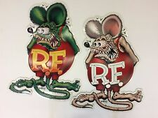 2 Rat Fink Metal Aluminum Signs 2006 Ed Big Daddy Roth 23.75 Inches Tall