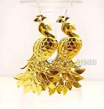 SALE Beautiful Big Gold 40*70mm Peafowl shape Metal dangle Earring -ear454