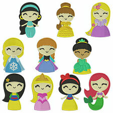 PRINCESSES 2 * Machine Embroidery Patterns * 10 Designs, 3 sizes